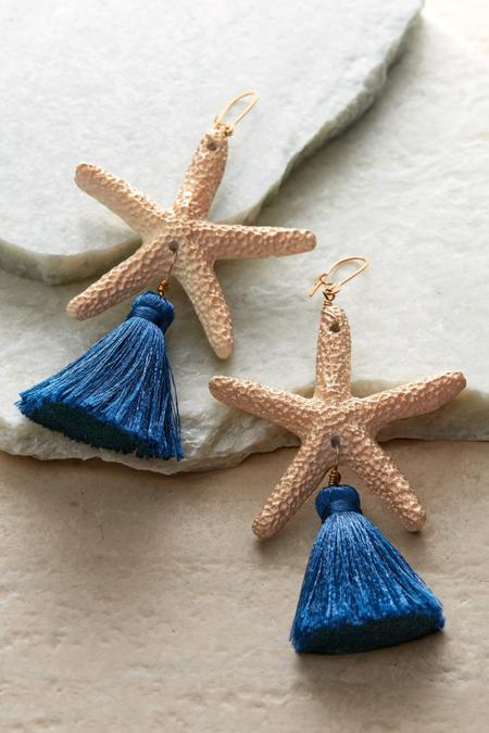 Sea Star Tassel Earrings