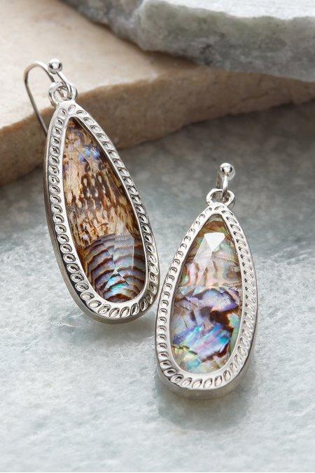 Oval Abalone Earrings