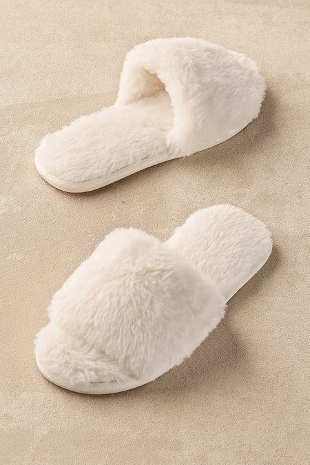 Fab Faux Fur Slipper Slides