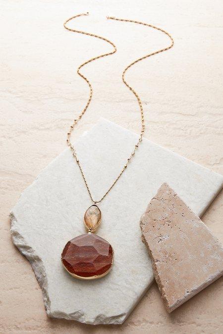 Sparkle Agate Pendant Necklace