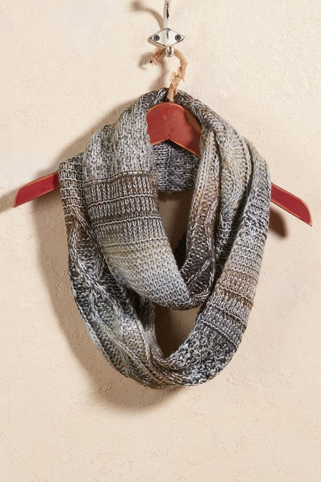 Nicks Cable Stitch Loop Scarf