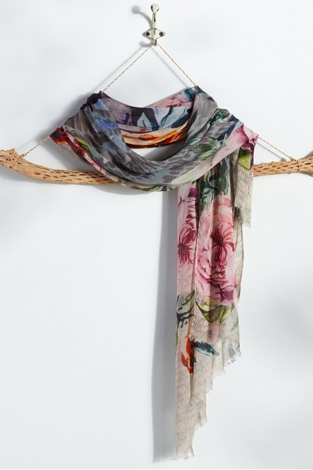 Bouquets and Brushstrokes Scarf
