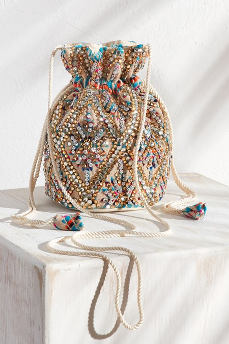 Mini Crystal Bucket Bag