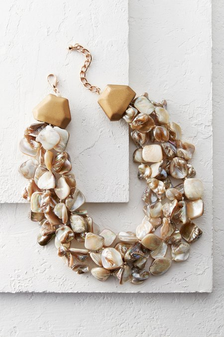 Painted Shell 5-Strand Necklace