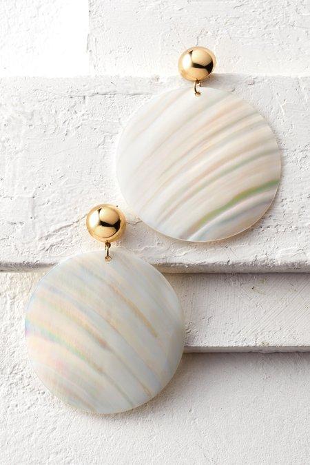 Shell Disc Earrings
