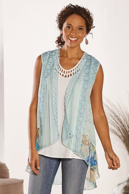 Sea Breeze Sleeveless Topper