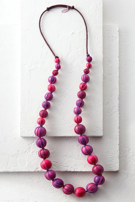Threaded Ball Necklace