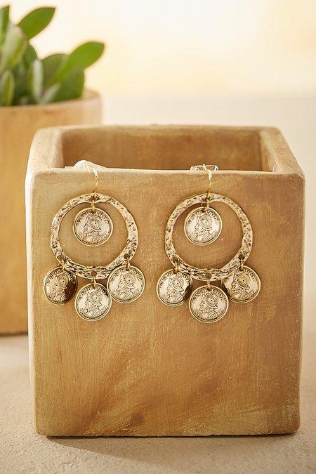 Balboa Coin Drop Earrings