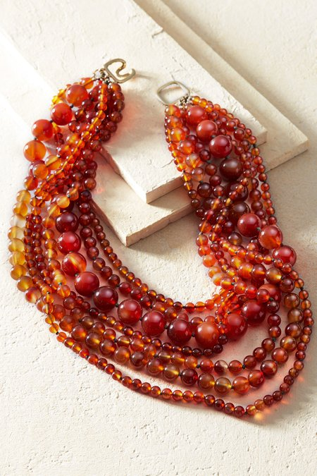 Sania Amber Necklace