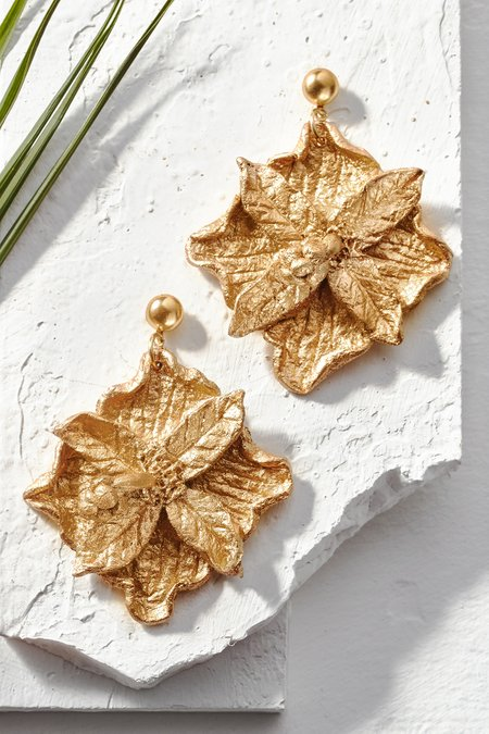 Gold Flower Earrings