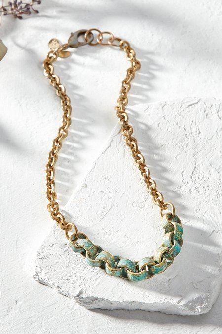 Chain Link Patina Necklace