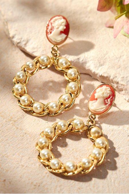 Pearl Nested Hoop Earrings