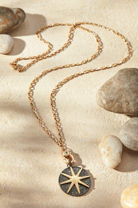 Long Starburst Disc Necklace