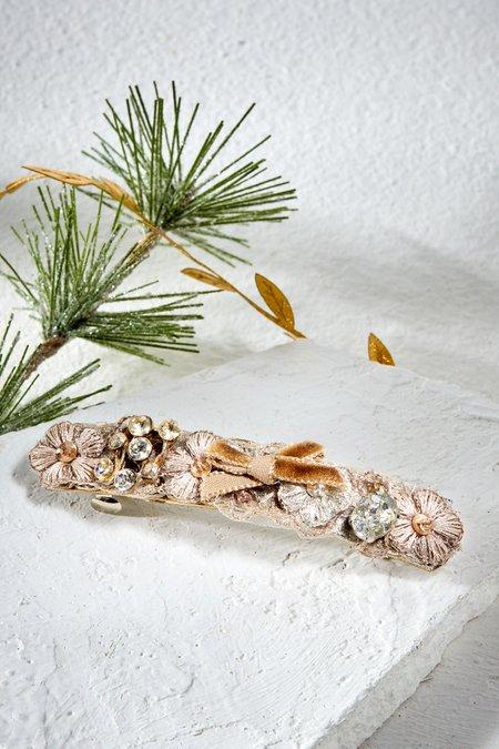 Flower & Crystal Hair Clip