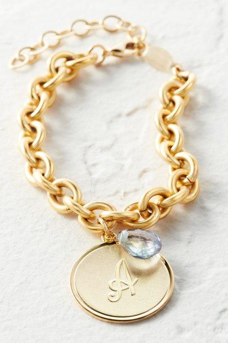 Monogram Gold Charm Bracelet