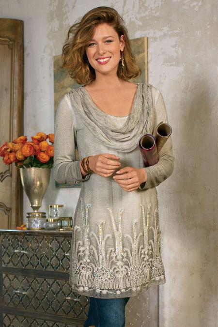 Women Silk Beaux Arts Tunic & Cami