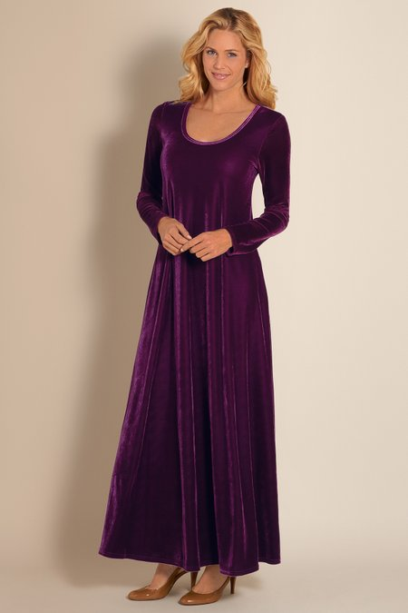 Santiago Stretch Velvet Dress