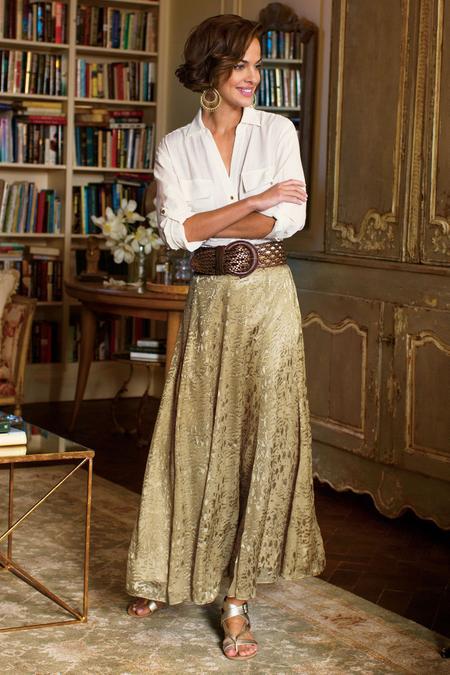 Silk Sienna Skirt