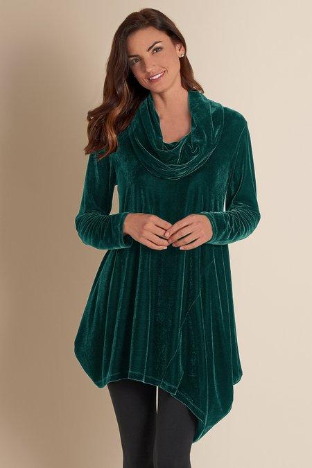 Velvet Asymmetrical Tunic