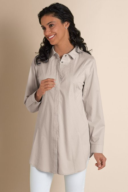 09301c8e51a Seams Perfect Shirt - Womens Pleated Shirt, Womens Tunic Shirt | Soft  Surroundings Outlet