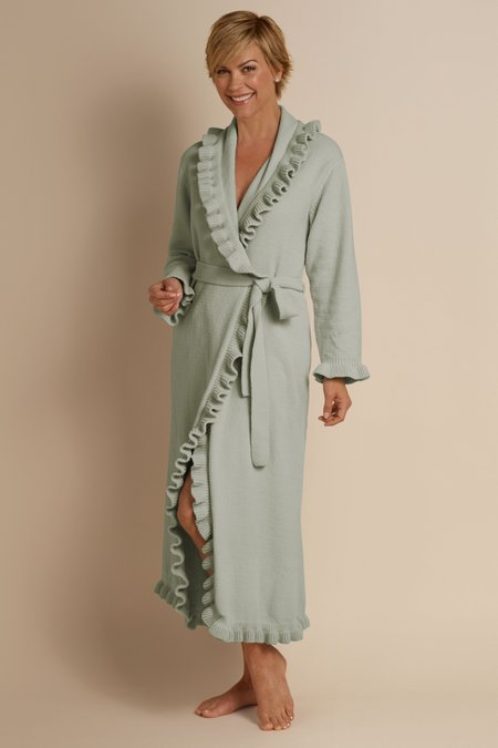 Ruffled Chenille Robe II