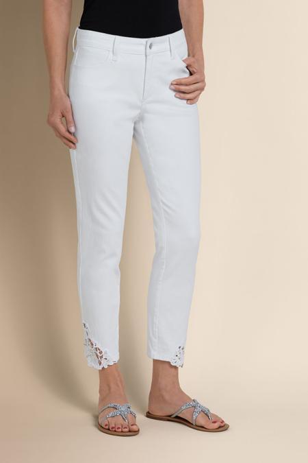 Petites NYDJ Clarissa Lace Hem Pants
