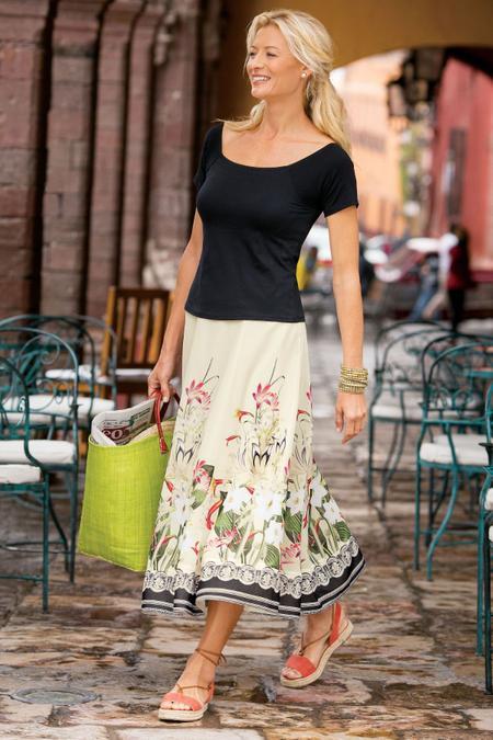 Petites Spring Meadow Skirt