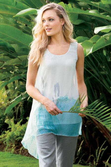 Color Wash Silk Tank