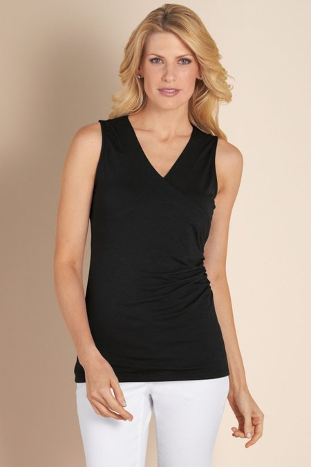 Women Shapely Surplice Tank I