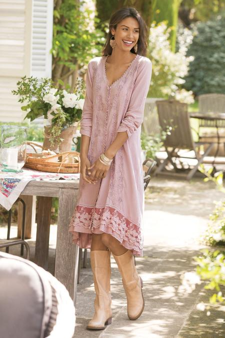 ddd6efec7817 Genevieve Dress - Gauze Dress, Boho Dress | Soft Surroundings Outlet