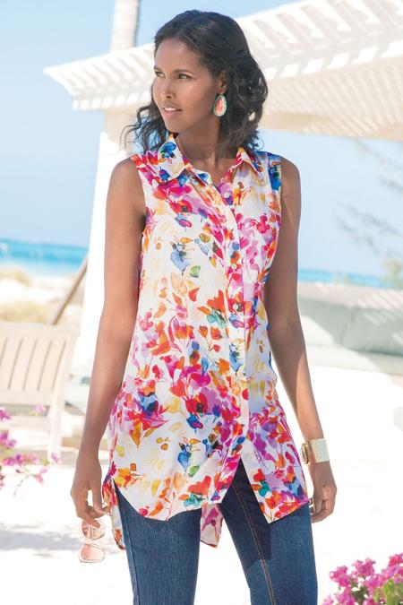 Summer Blooms Tunic