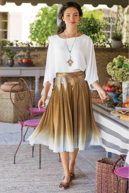 Gigi Shimmer Skirt