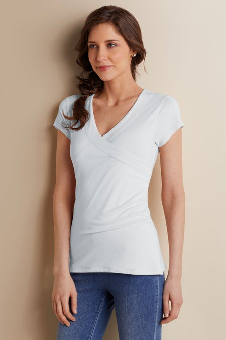 Petites Shapely Surplice Top I