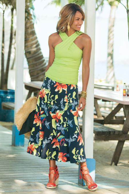 Petites Tropical Forest Skirt