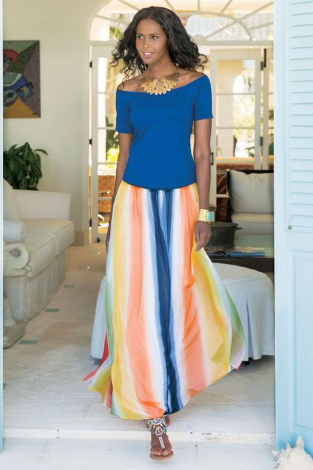 Globetrotter Maxi Skirt Soft Surroundings Outlet