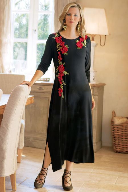Rosarita Appliqué Dress