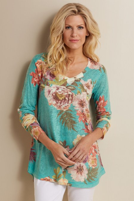 Midnight Blooms Top