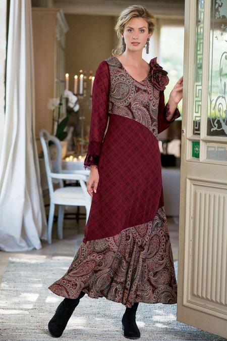 Aideen Mixed Print Dress