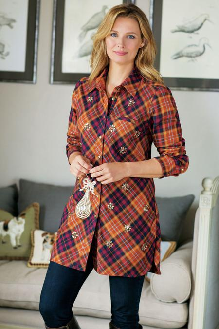 Galveston Flannel Top