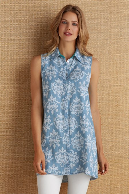 Printed Tencel Tunic