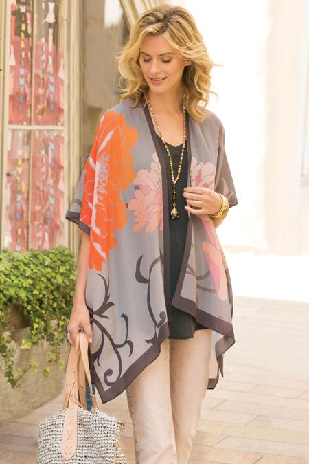 Giverny Silk Topper