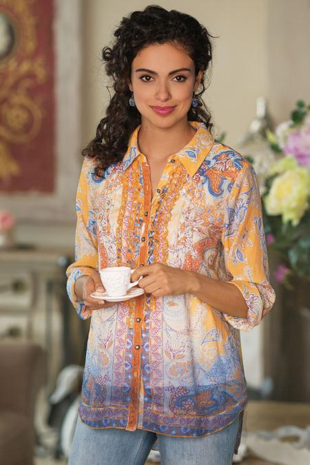 Women Pondicherry Shirt & Cami