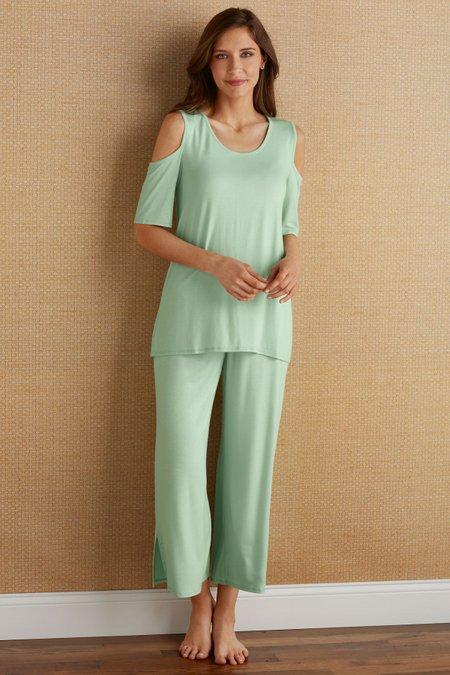 Cold Shoulder Pajamas