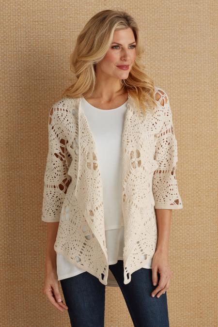 Quinn Crochet Cardi