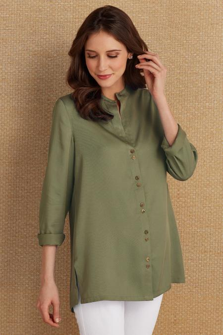 Tencel® Two Button Top