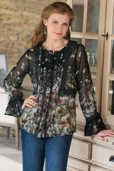 Women Harriett Bell-Sleeve Blouse