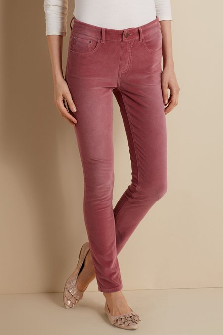 Women Velvet 5 Pocket Pull On Leggings