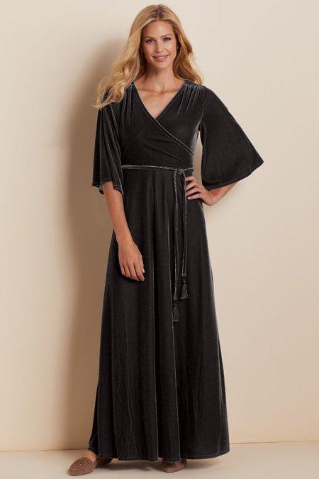 Vera Velvet Wrap Dress