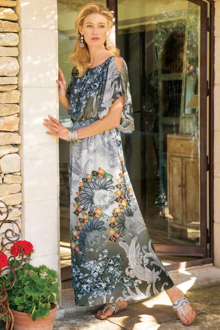 054fb1910c55 Abstract Paisley Dress | Soft Surroundings Outlet