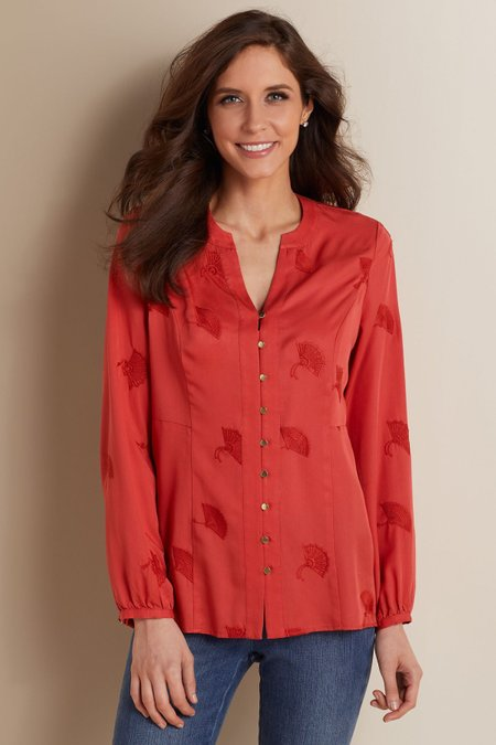 Sonja Embroidered Tencel® Top